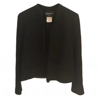 Chanel Paris/Salzburg Black Wool Blend Swing Jacket