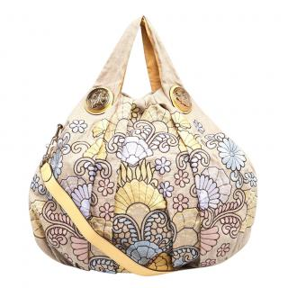 Gucci Canvas Floral Embroidered Hysteria Tote Bag