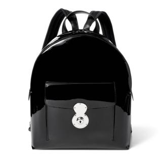 Ralph Lauren Black Patent Leather Ricky Backpack