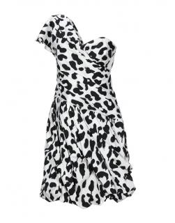 Boutique Moschino Black & White One Shoulder Dress