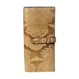 J&M Davidson Snakeskin Long Tab Wallet