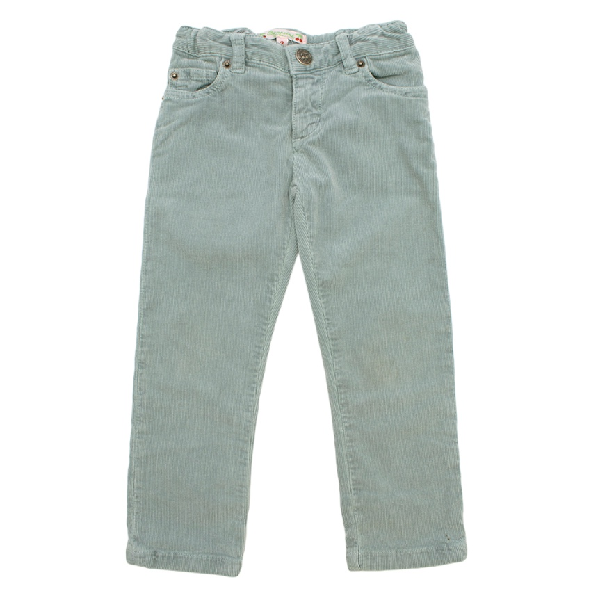 Bonpoint Green Corduroy Baby Trousers