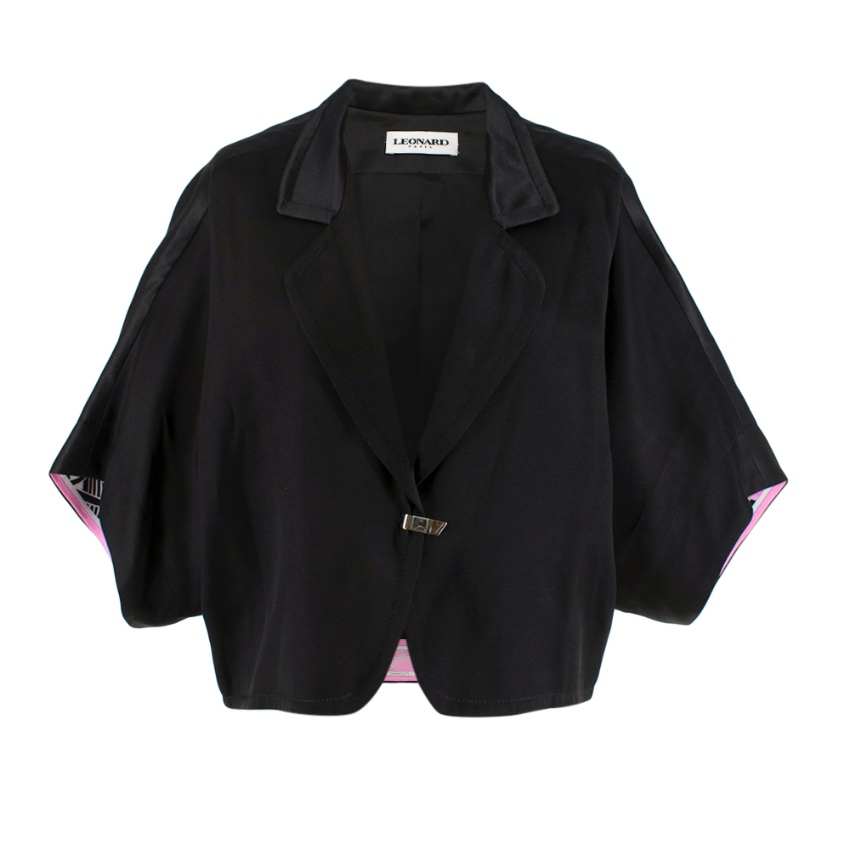 Leonard Black Silk Short Sleeve Jacket