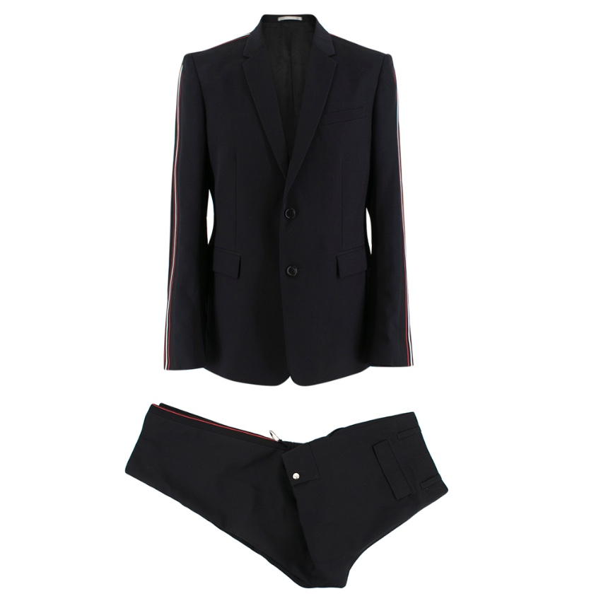 Dior Homme Single Breasted Side Stripe Cargo Suit
