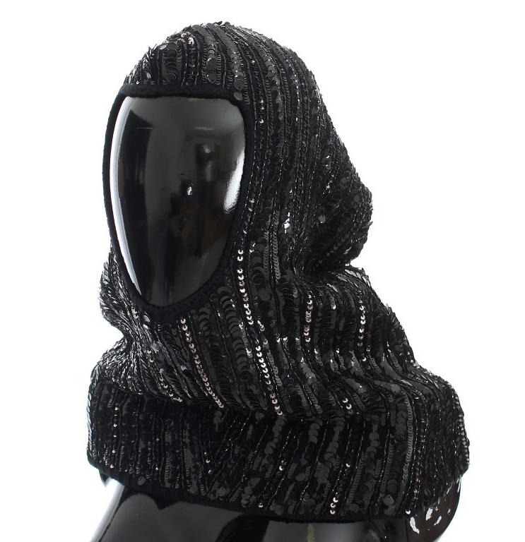 Dolce & Gabbana Black Sequin Hood