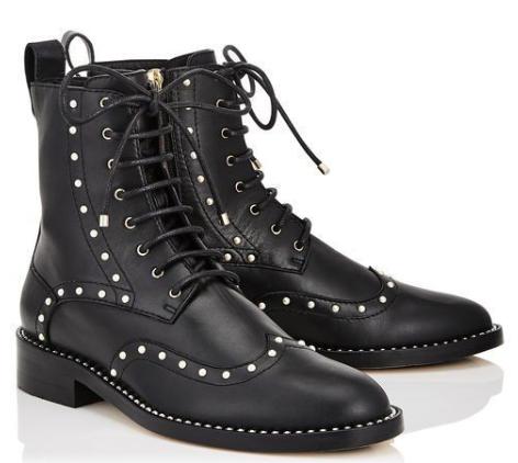 Jimmy Choo Black Studded Leather Hannah