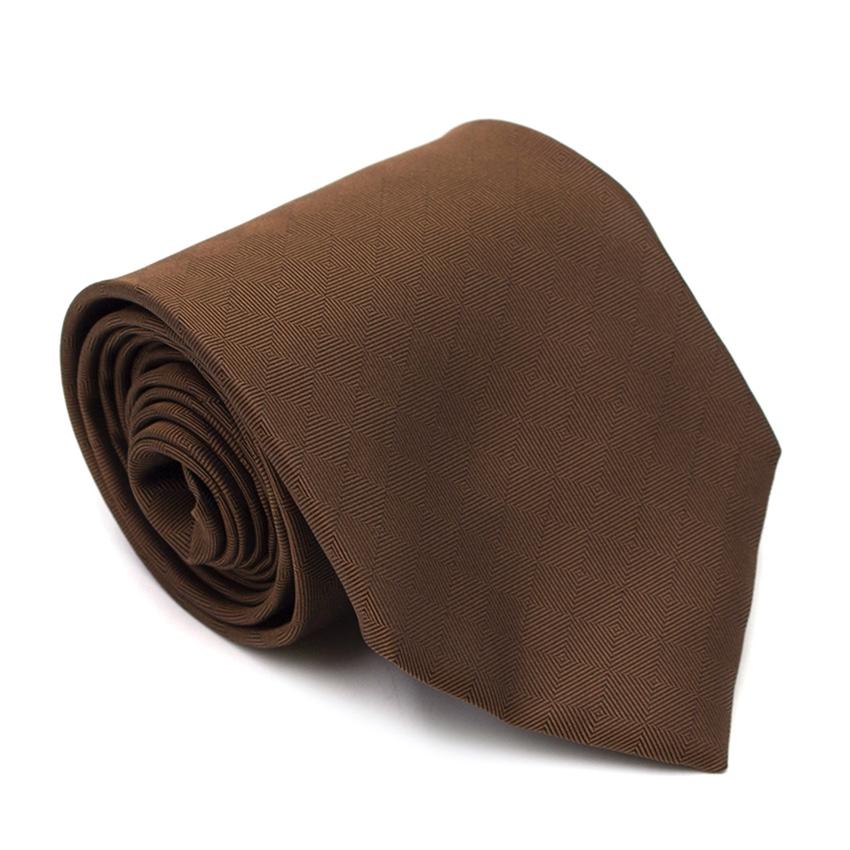Albert Goldberg Brown Silk Sheen Tie