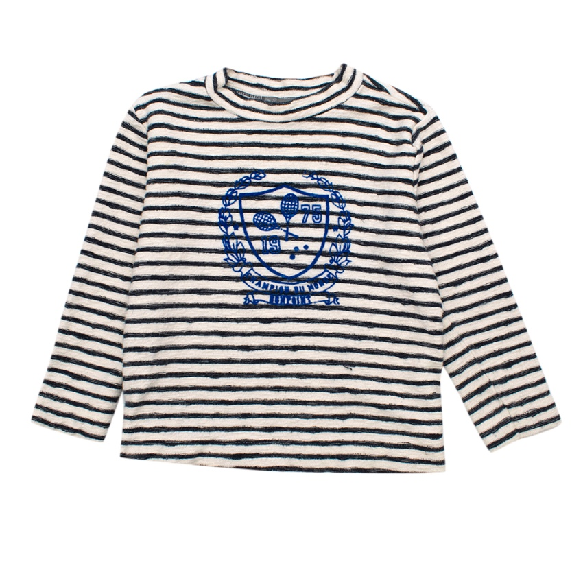 Bonpoint Striped Kid's' Cotton Long Sleeve Top