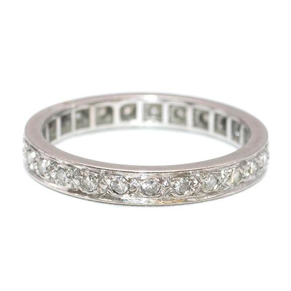 Bespoke White Gold Pave Diamond Eternity Ring