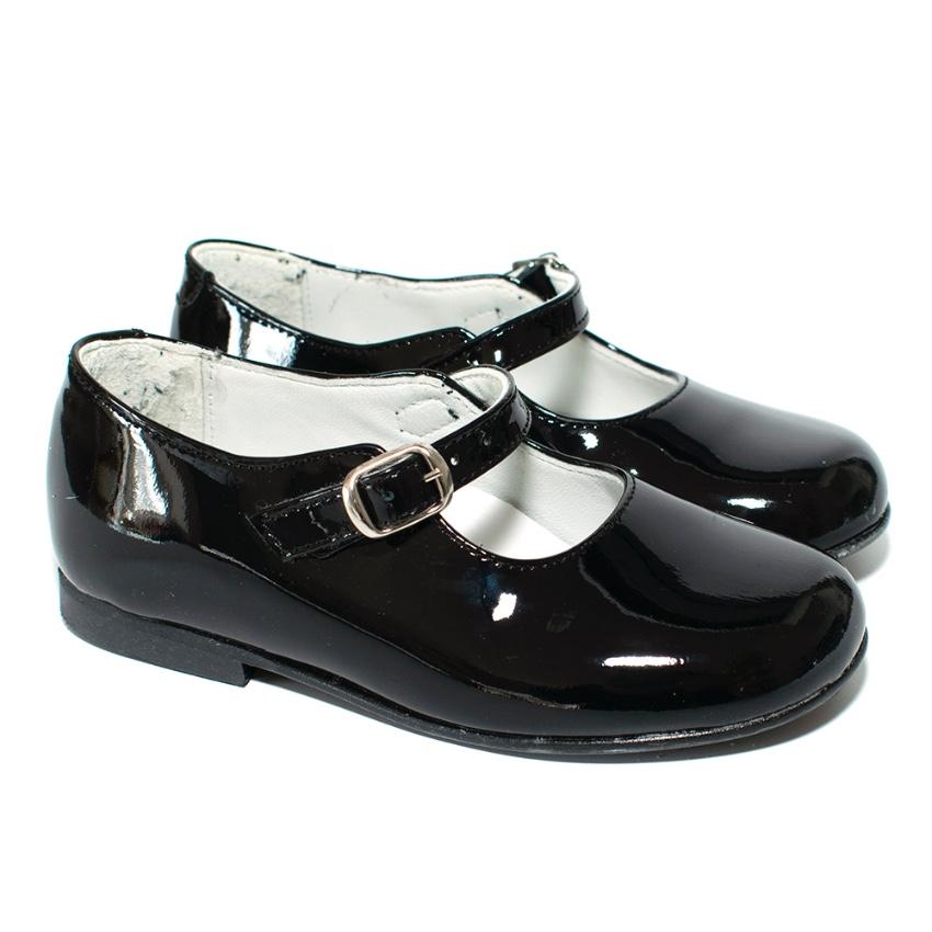 La Coquela Black Patent Mary Jane Childrens Shoes
