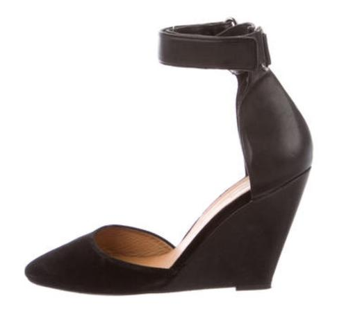 Isabel Marant Black Shane Wedge Sandals