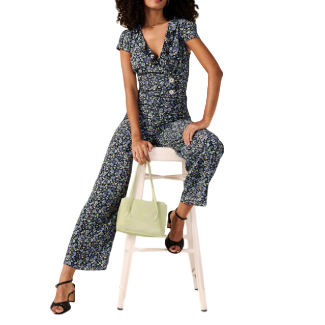 Roujie Paris Floral Print Jumpsuit