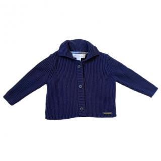 Burberry Kid's Blue Knit Cardigan