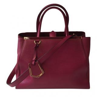Fendi Pink Leather Medium 2Jours Tote Bag