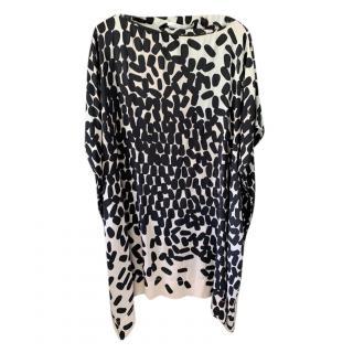 Diane Von Furstenberg Printed Draped Dress
