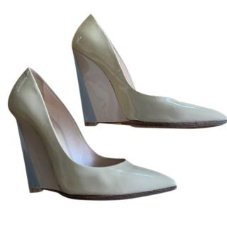 Casadei Nude Blade Wedge Pumps
