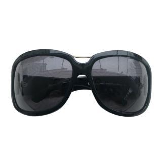 Yves Saint Laurent Black Oversize Sunglasses