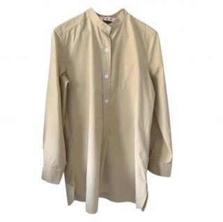 Marni beige shirt shift dress