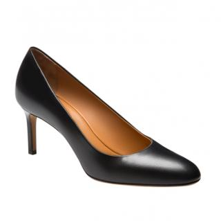 Bally Black Leather Court Pumps
