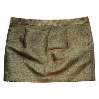 Viktor & Rolf lame mini skirt