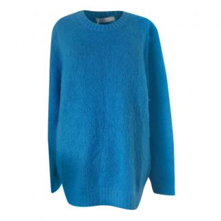 Max Mara Blue Mohair & Wool Jumper