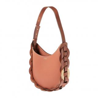 Chloe Tan Leather Darryl Shoulder Bag