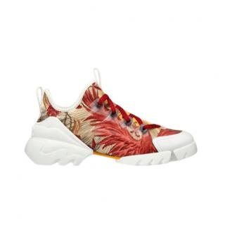 Dior D Connect Red & White Sneakers