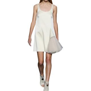 Christopher Kane Sleeveless Tulle Detail Scoop Neck Mini Dress