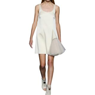 Christopher Kane Sleeveless Tulle Detail Scoop Neck Mini Dress