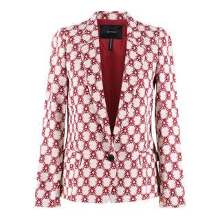 Isabel Marant White & Red Lightweight Tailored Blazer