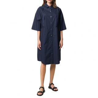 Chalayan Navy Oversize Shirt Dress