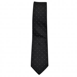 Dior Spotted Silk Slim Tie