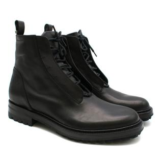 Dior Homme Black Leather Lace-Up Boots