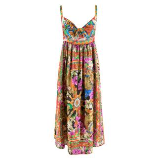 Dolce & Gabbana Carretto Floral Print Pleated Dress