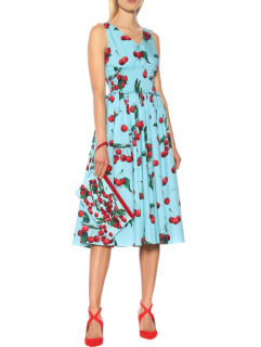 Dolce & Gabbana My Theresa Exclusive Sleevless Mikado Midi Dress