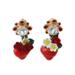 Dolce & Gabbana Strawberry Drop Earrings