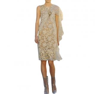 Chanel Paris/Venice Lace Layered Runway Dress