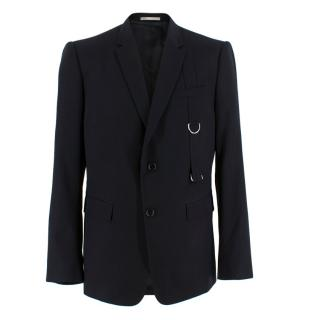 Dior Homme Black Suit Jacket with D Buckle Strap