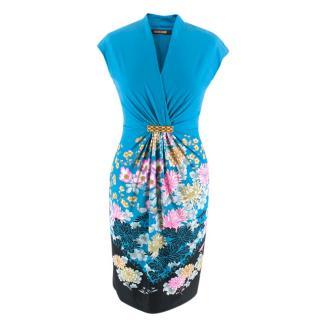 Roberto Cavalli V-Neck Floral Mini Dress