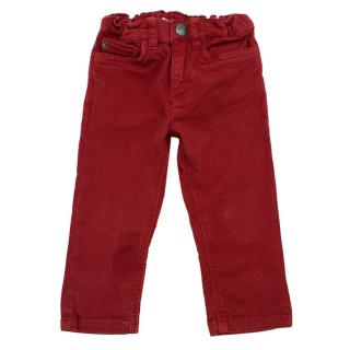 Bonpoint Red Baby Jeans