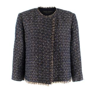 Marina Rinaldi Navy & Gold Tweed Jacket