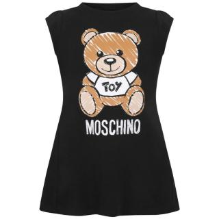 Moschino Kid's Black Teddy Toy Print Dress