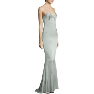 Galvan Diamond Cut-Out Crepe Gown