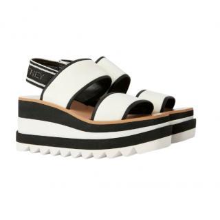 Stella McCartney Women's White Sneak Elyse Sandals