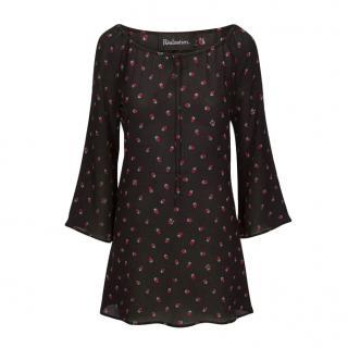 R�alisation Par The Luna Dress in Black Strawberry