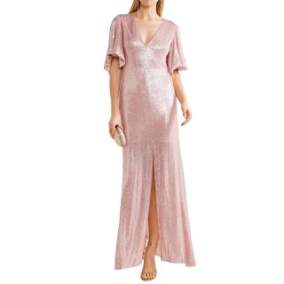 Temperley Stardust open-back sequined chiffon gown