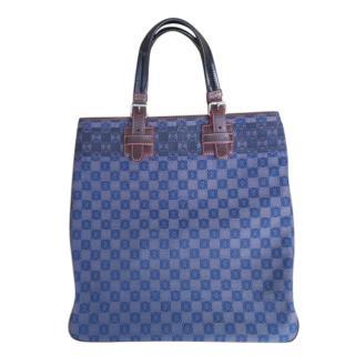 Loewe Blue Monogram Canvas Shoulder Bag