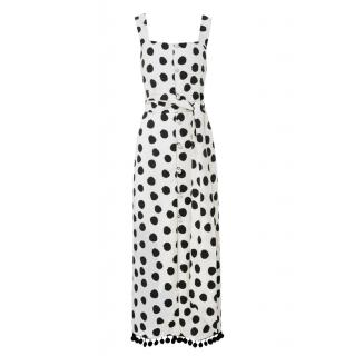 Mother of Pearl Polka Dot Midi Dress