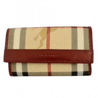 Burberry House Check Leather Keyholder