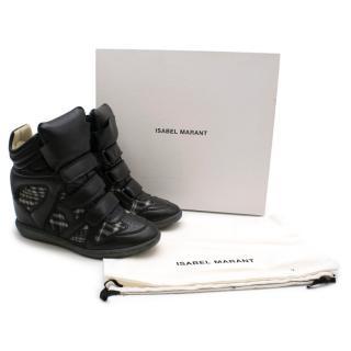 Isabel Marant Bekett Hi-Top Gingham Sneakers